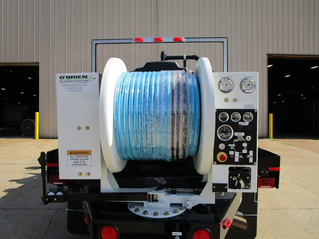 Reel of a 7000 Series Trailer Water Jetter